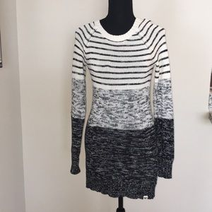 Roxy Striped Sweater Dress